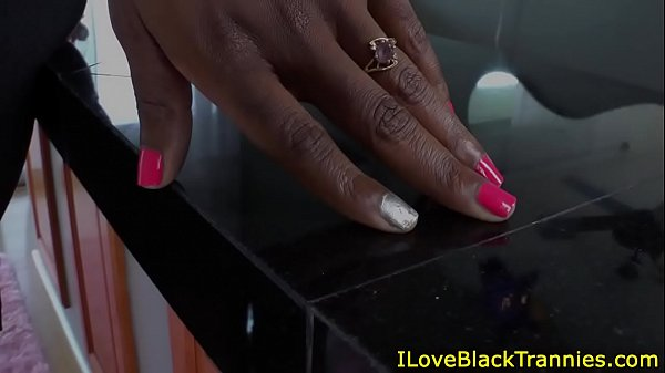 Beautiful black trannys hard cock sucked