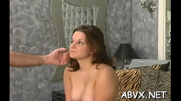 Hot maid is using a dildo