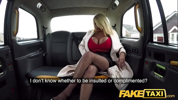 Fake Taxi Massive boobs titwank and hard fuck with British MILF Thumb