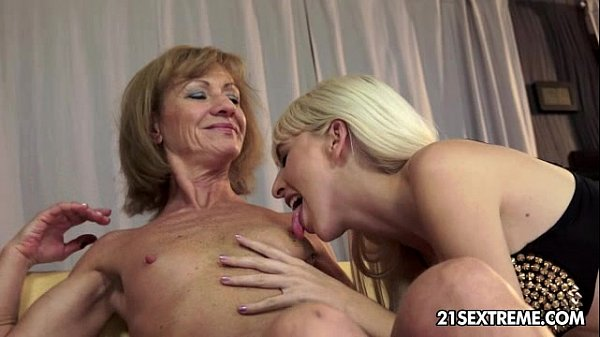 Alexa Wild and Katherin Old Young Lesbian Love Thumb