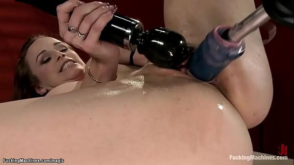 Busty tied Bella Rossi machine fucked Thumb