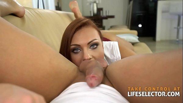 Ornella Morgan - BigBoobs RedHead Babe in ACTION Thumb