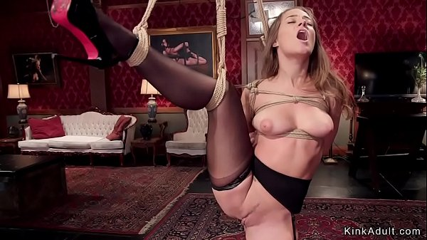 Guy fucks flexible ballerina in bondage