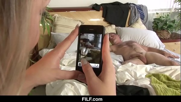 FILF - BFF sees Dads big cock while he naps Thumb