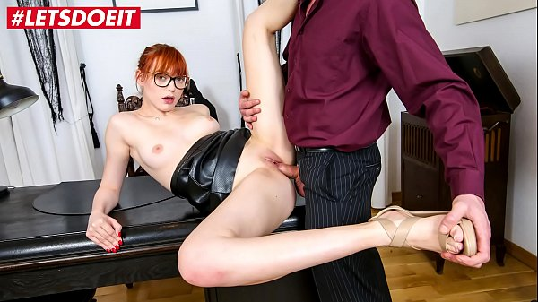 LETSDOEIT - Redhead Office Babe Anny Aurora Pussylicked And Fucked