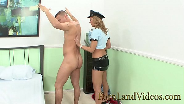 hot Alexis May fake police girl with big boobs fucking guy
