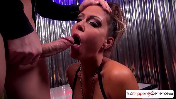 Hot MILF Jessica Jaymes giving the best blowjob of your life, big boobs - The Stripper Experience Thumb