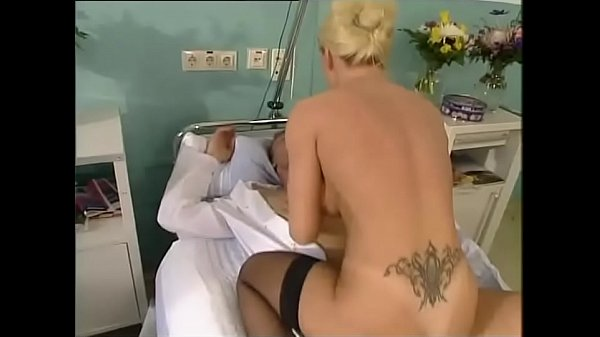 Slutty nurse fucking a patient in the hospital bed