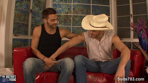 Sexy gay suck and ride anally a large prick