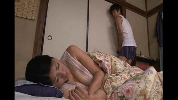 Japanese sleeping mom fucked by her horny son