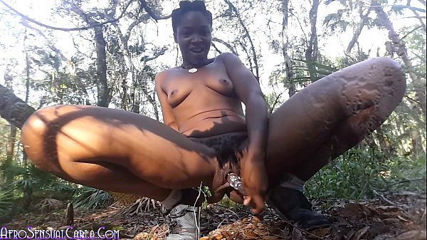 Wild Girl Wooded Outdoors Squirting Masturbation