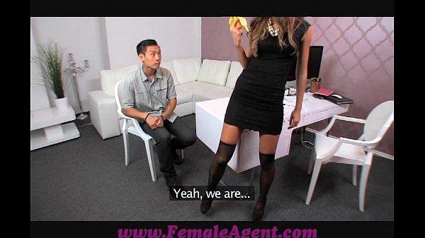 FemaleAgent Asian casting fucks female agent amazingly well