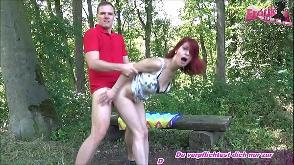 Young redhead skinny german amateur teen at outdoor sexdate over EVN
