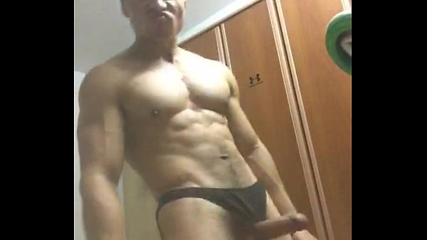 Asian hot hunk jerking off