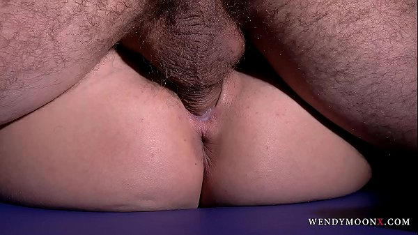 DETAILED Wendy Moon squirt & suck cock before oiled & fucked pussy with creampie