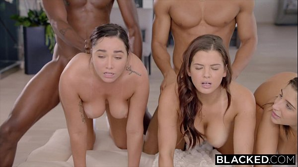 BLACKED Abella, Karlee and Keisha Stretched Out By Two BBC's