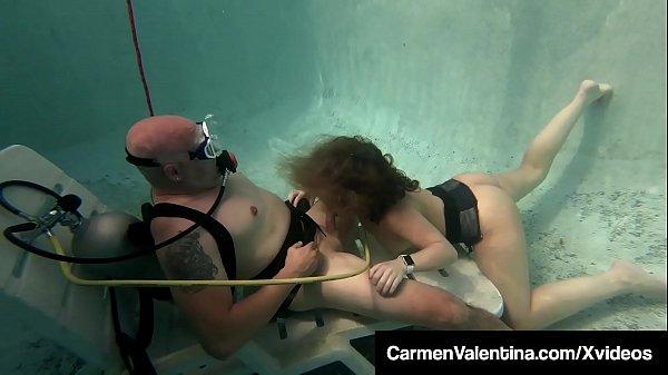 Scuba Diver Carmen Valentina Sucks & Fucks A Cock Underwater Thumb