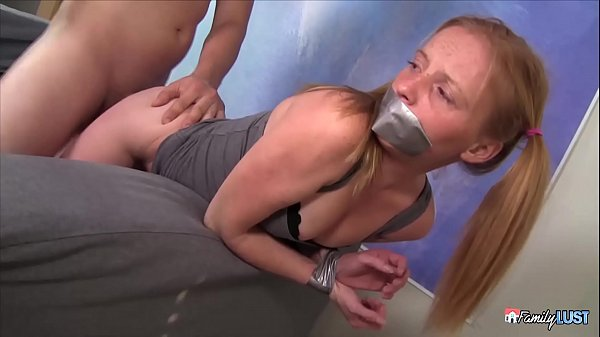 Little GINGER Step Sister Bound and Tied Up -  Brutally Fucked Thumb