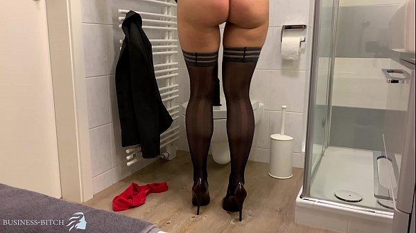 secret secretary dildoride office toilet, Business Bitch