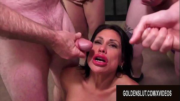 Golden Slut - Mature Blowbang Compilation Part 2 Thumb