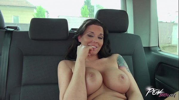 Sex tattooed milf is hungry for cock in car