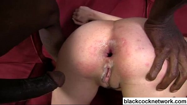 White whore lets big black cock ruin her ass