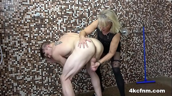 Mature Blonde takes them All in one Shot Thumb
