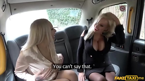 Busty blondes with huge tits filthy taxi threesome