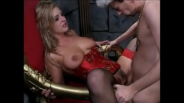 Gandalf the Gray found the bottom of the well of the power of the ring to young busty blonde lady Avy Scott and she seduces debauched king