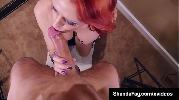 Canadian Cougar Shanda Fay Fucks Her Mouth With A Hard Cock!