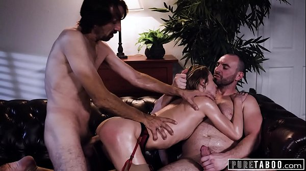 PURE TABOO Aiden Ashley Has Threesome With Hung College Prof & New Boss, His Stepdad Thumb