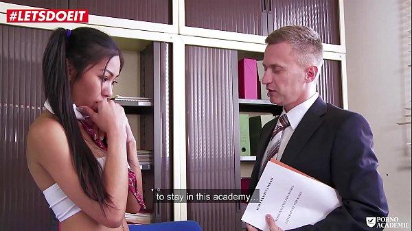 LETSDOEIT - Asian Teen Fucked in Both Holes By her Teacher
