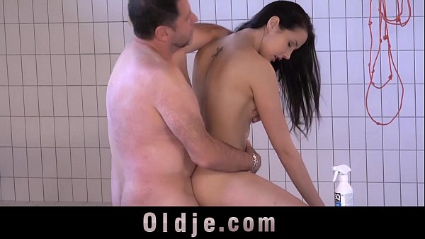 Cutie needs a pervert old guy to fuck hard her horny cunt