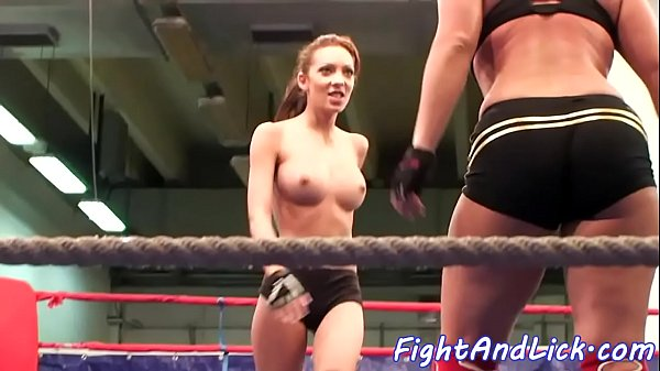 Athletic dyke dominates in a wrestling match Thumb