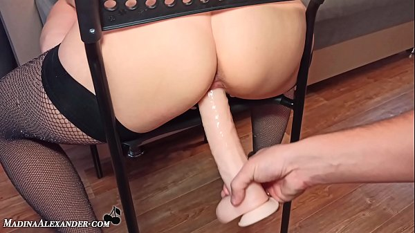 Cute Girl Gets Fucked By A Big Dildo - Homemade