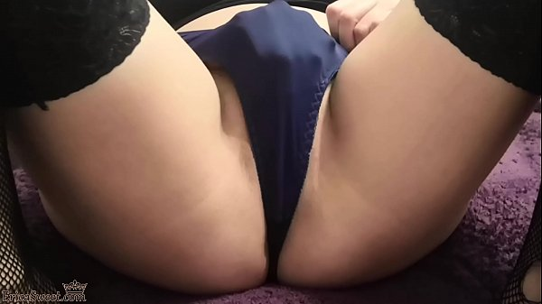 Girl Passionate Play Pussy Vibrator after Work - Homemade Thumb