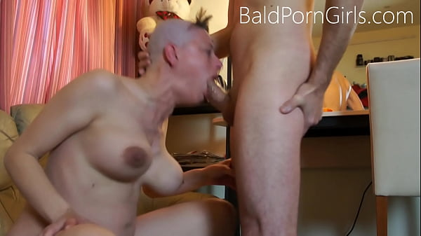 Bald headed slut deept-throat humiliation - BaldPornGirls.com Thumb