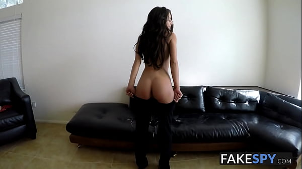 Adorable skinny Latina banged hard in POV in an interview
