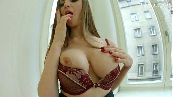 Busty girl double anal