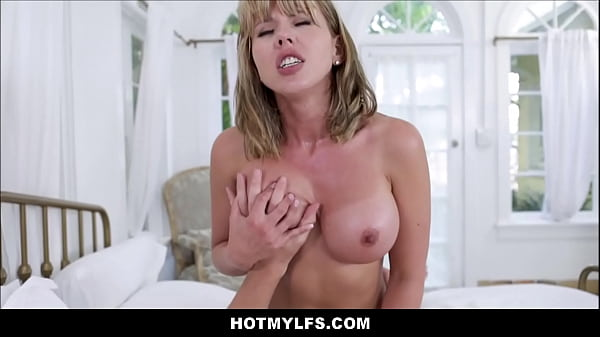 Horny Blonde MILF Seduces Neighbor Boy Working For Husband