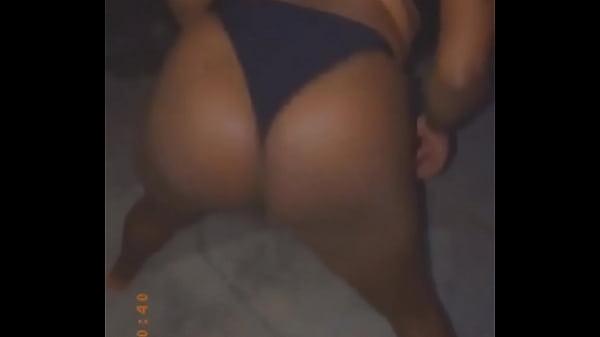 Ebony Jamaican petite dancing