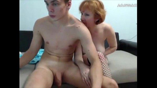 Mature redhead fucks her step-son on webcam - AdultWebShows.com