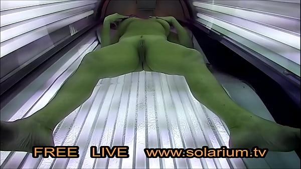 Horny Blonde Milf Masturbated on tanning bed in real Public Tanning Salon. Reallifecam on the Solarium, 20 Real Hidden Webcam and Spy Camera under the tanning bed. Thumb