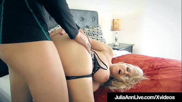 Horny Foreign Newbie Mouth & Pussy Fucks Mega Milf Julia Ann Thumb