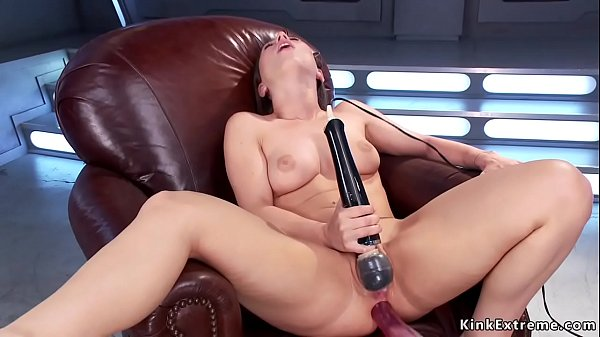 Solo brunette takes machine up her ass Thumb