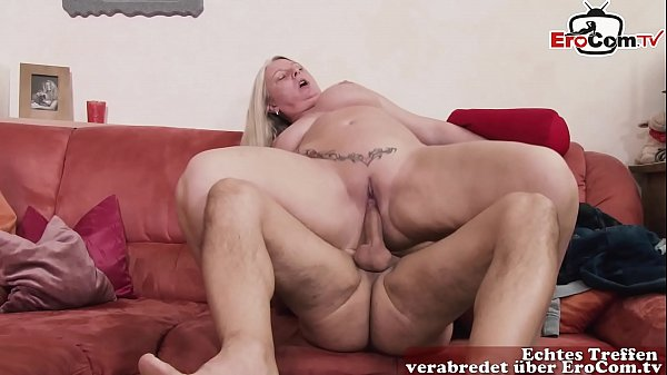 Fat chubby bbw german mom seduces guy at home with her big natural tits Thumb