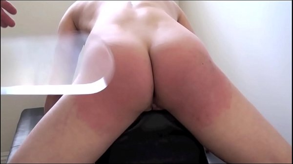 Casey Calvert's bare ass and pussy whipped and caned