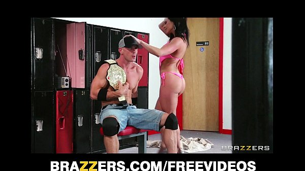 Big tit Kendra Lust fucks a wrestling champion in the ring