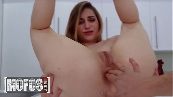 Petite amateur (Lana Bunny) gets tight ass stretched in the kitchen - MOFOS
