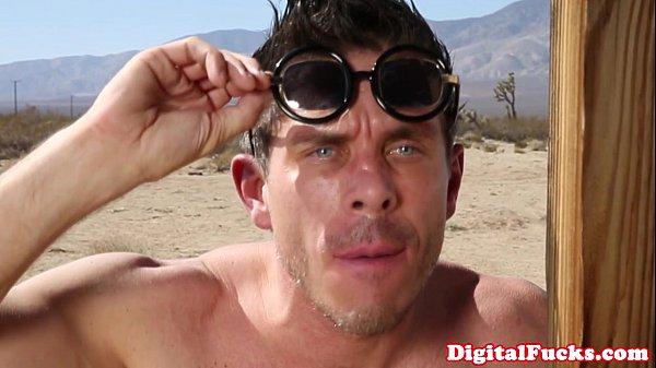 Pornstar Annika Albryte licks up her creampie